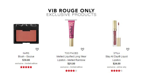 VIB Rouge Exclusive Products